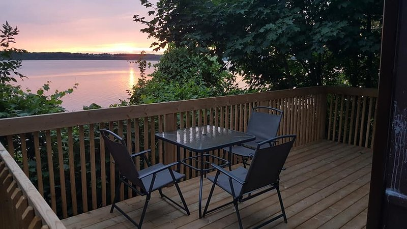 Private patio/deck  for your enjoyment.