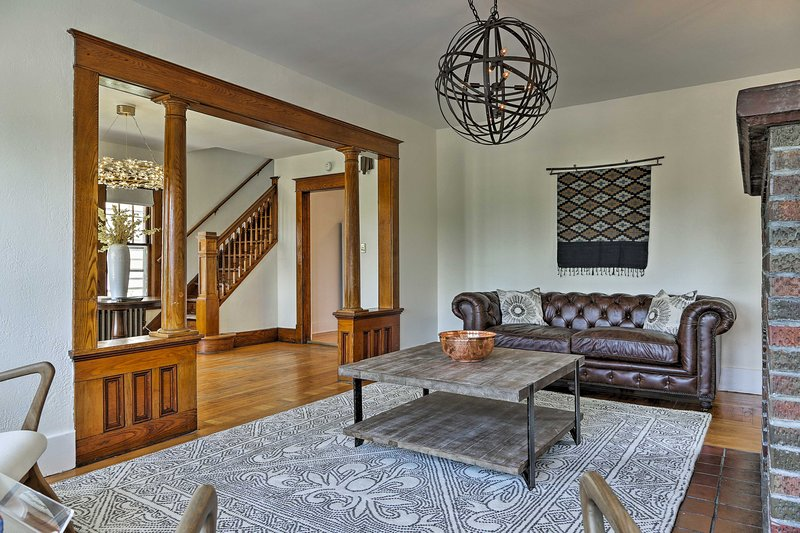 The 4-bedroom, 1-bath house is a lovingly restored craftsman.