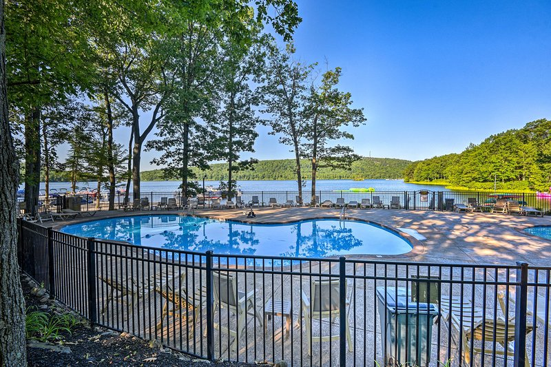 Take a dip at the community pool