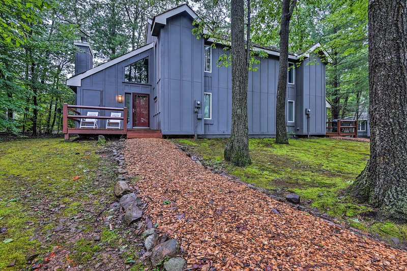 This home offers 2 bedrooms, 2 bathrooms, and a private loft.