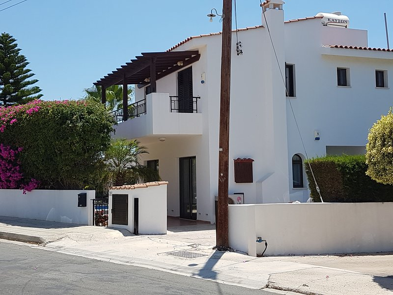 Side of House Showing the Private Parking for two Cars