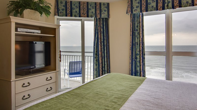 Enjoy stunning ocean views and access to the balcony from the master bedroom.