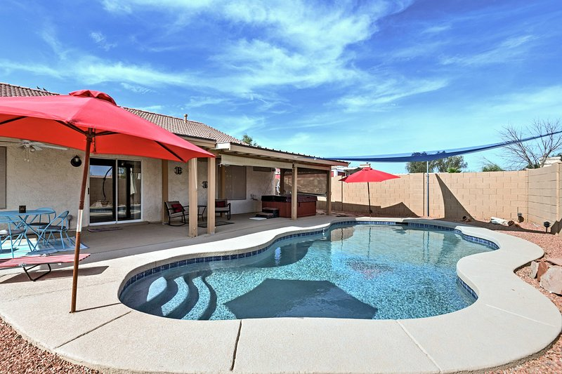 Stress-Free Casa Grande House w/ Pool & Hot Tub!, vacation rental in Arizona City