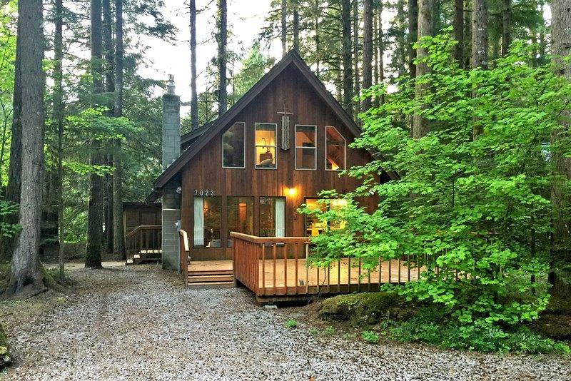 Mt. Baker Lodging – Cabin #35 – A/C, PETS OK, DISHWASHER, FIREPLACE, SLEEPS-6!