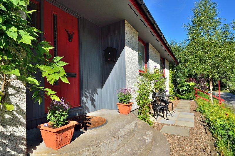 The Bridge Suite private guest entrance and patio