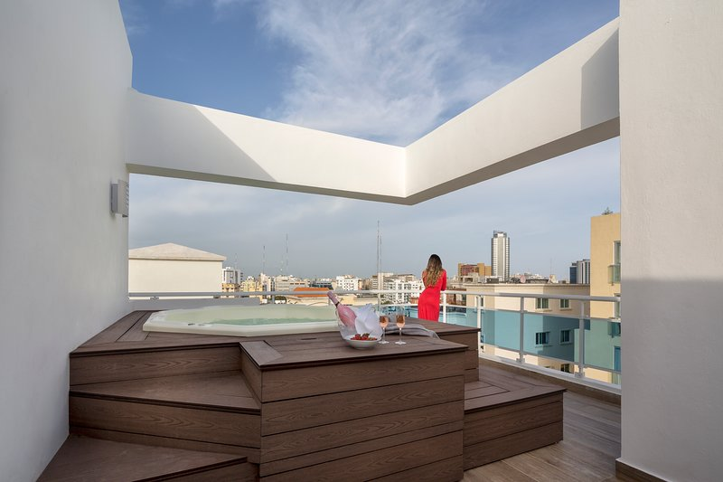 Vip Luxury Rooftop Two-Bedroom Penthouse with Jacuzzi, vakantiewoning in Santo Domingo