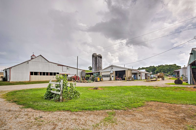 The home is located on a working farm!