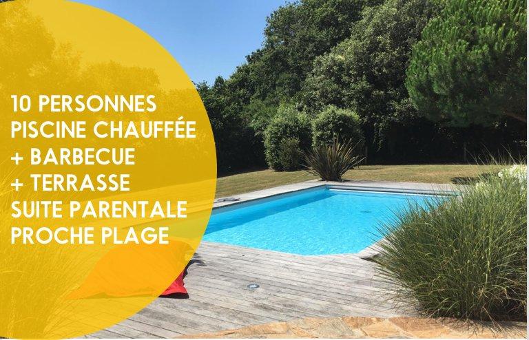 Villa avec piscine chauffée ⭐️, location de vacances à Bourgenay