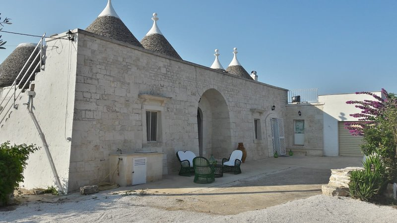 View from the outside of the trulli Carlo and Anna.
