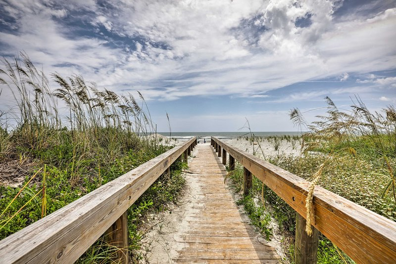 The 1-bedroom, 1-bath condo gives you direct access to the beach.