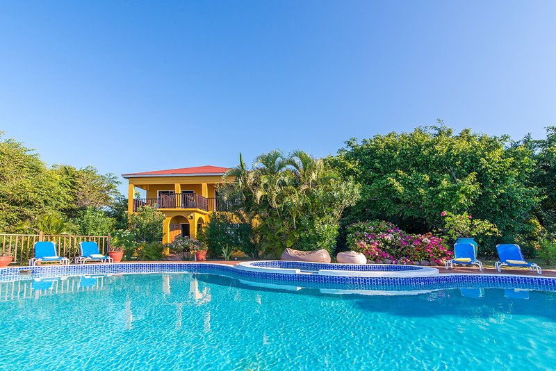 Located steps away from the pool, Jacuzzi, and Caribbean Sea