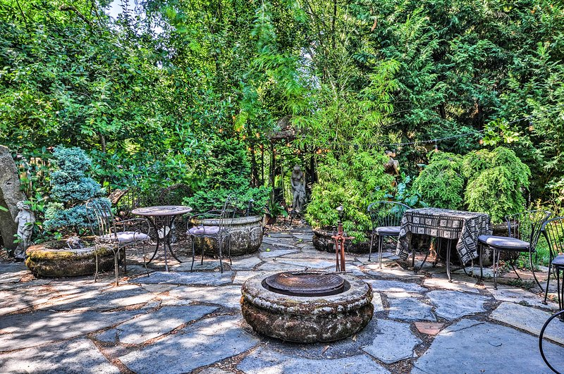 Spend countless hours in this peaceful, lush garden space.