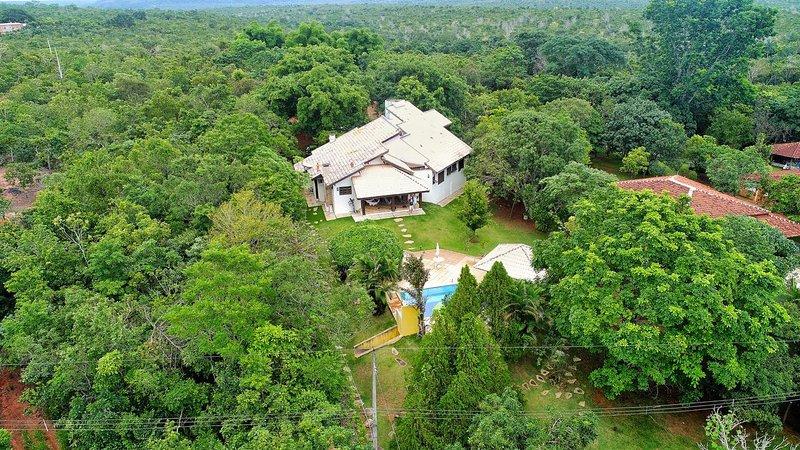 Vista aérea de la Quinta Brota de Bambú