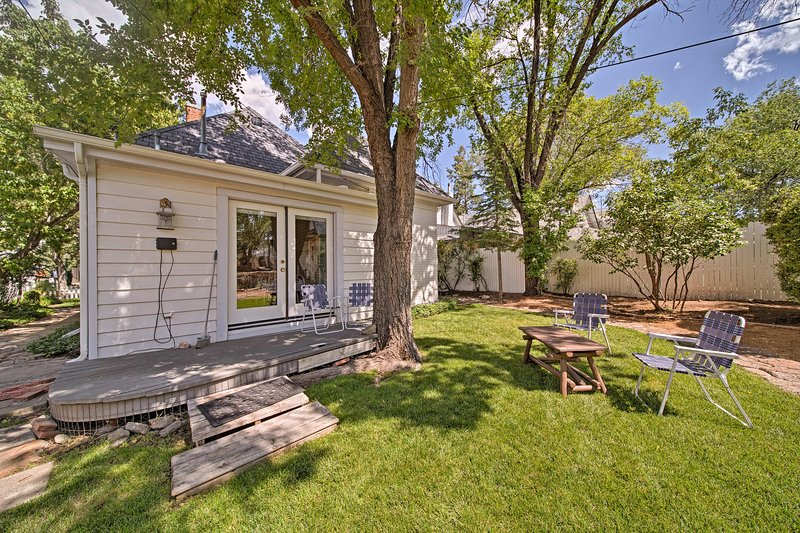 Soak up the sun in the private backyard with your crew of 4!