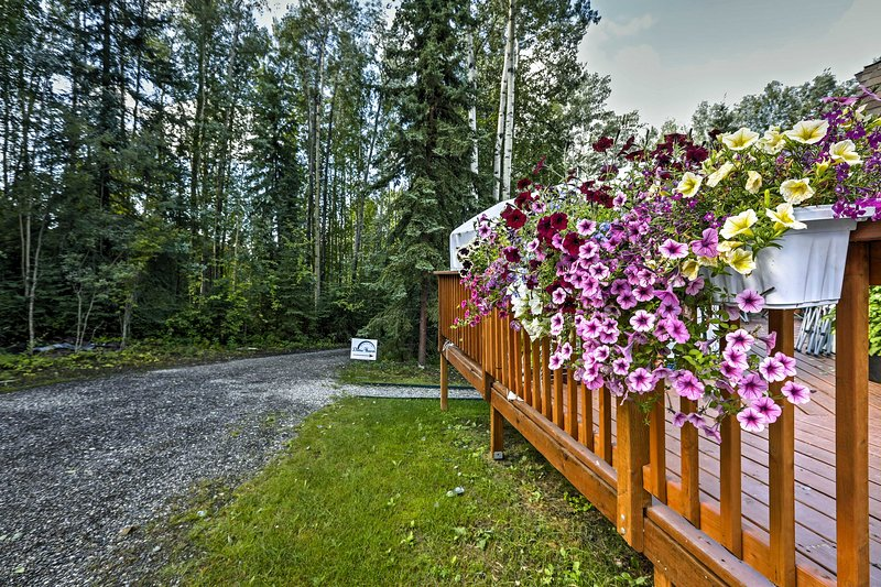 Esta propiedad está enclavada en un entorno pintoresco bosque.