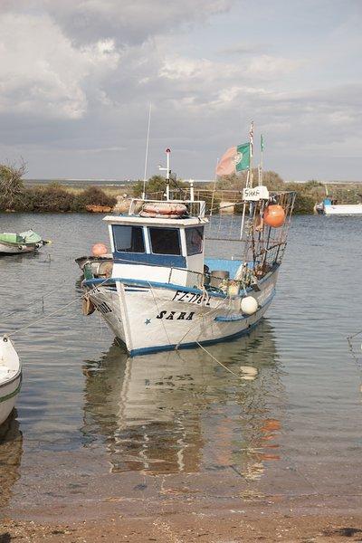 boat Fuseta Harbour