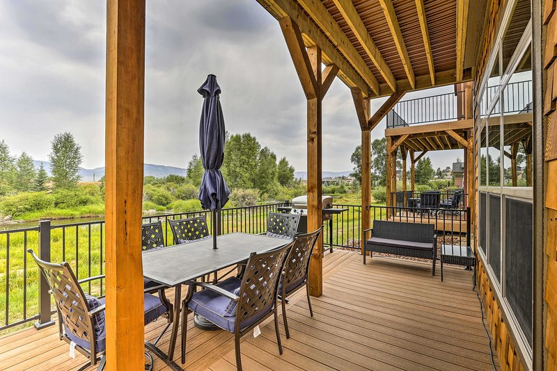 Enjoy Rocky Mountain views from the newly remodeled deck!