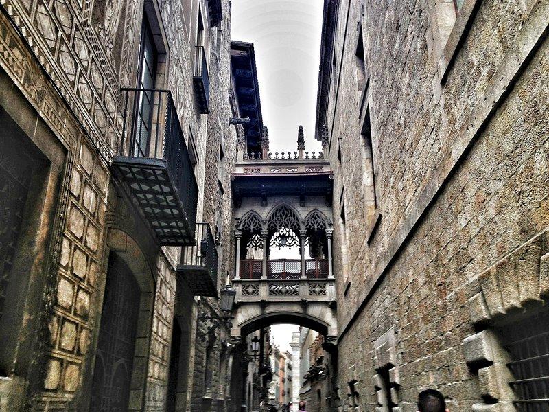 The charming Gothic Quarter, or Barri Gòtic