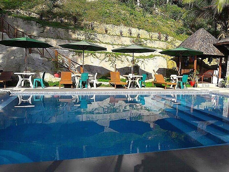 Sundeck area, swimming pool.