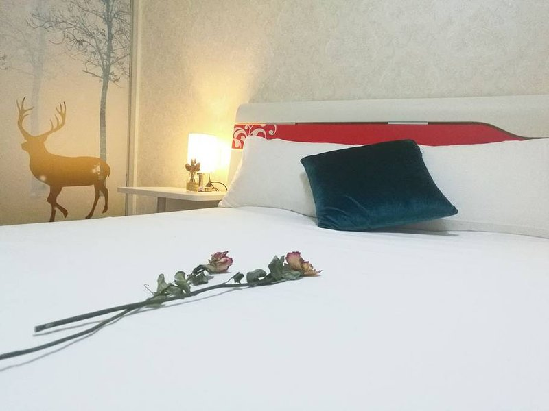 Queen Bedroom with swimming Pool【莳花集/Flower Room】万象航洋会展附近带泳池小区, holiday rental in Nanning