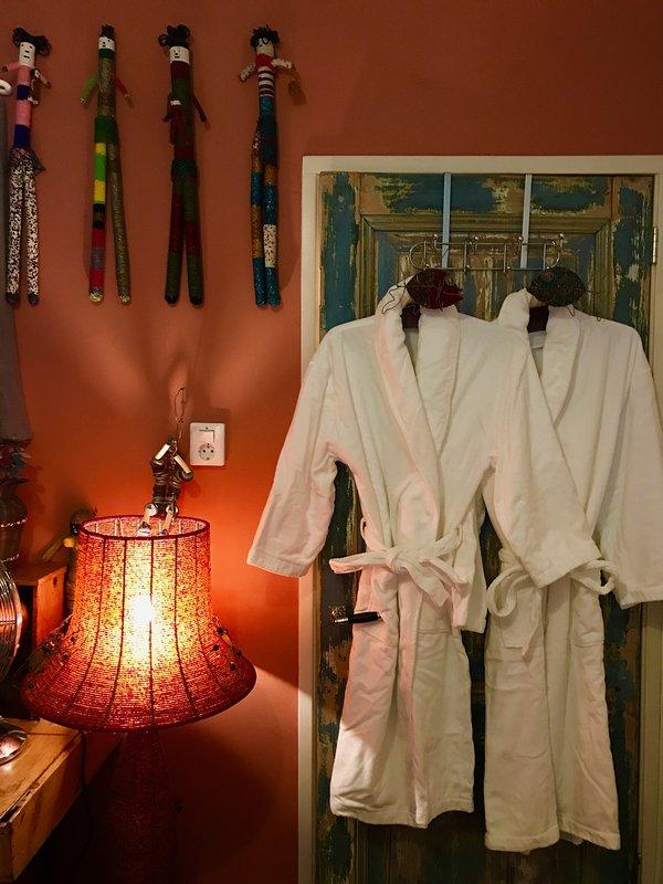 Bed, beads & bathrobes