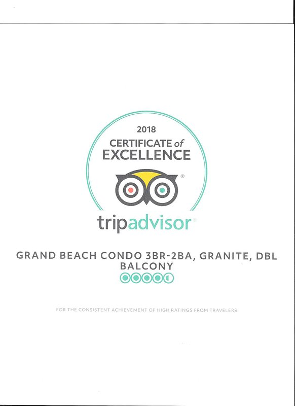 2018 Certificate of Excellence Award from TripAdvisor