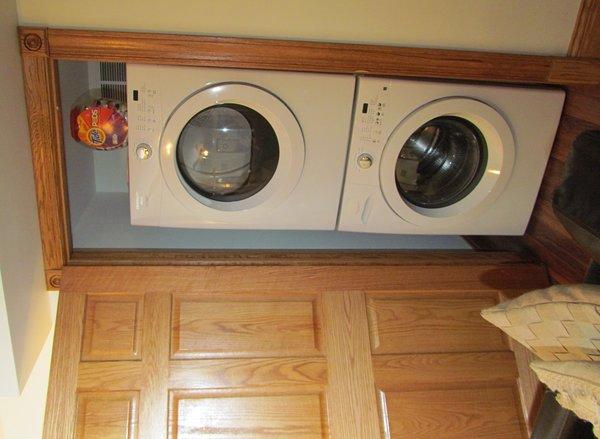 Uso gratuito de lavadora y secadora - incluso proporcionamos las hojas de detergente y suavizante