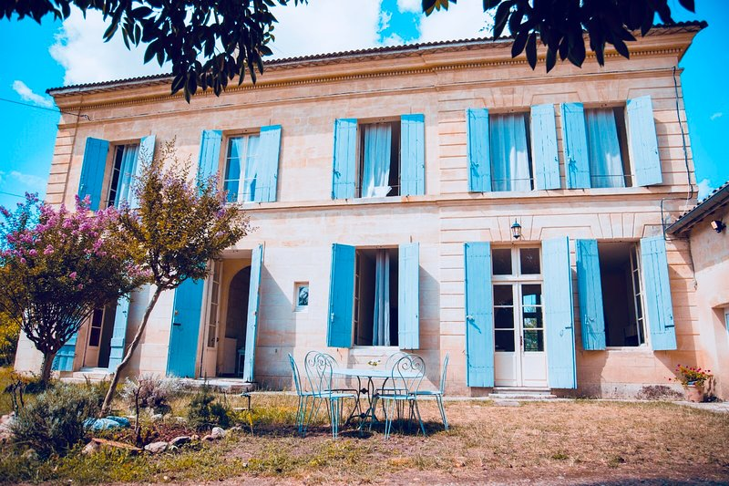 Historic Villa in Saint Emilion area with stunning views on vineyards!, casa vacanza a Saint-Etienne-De-Lisse