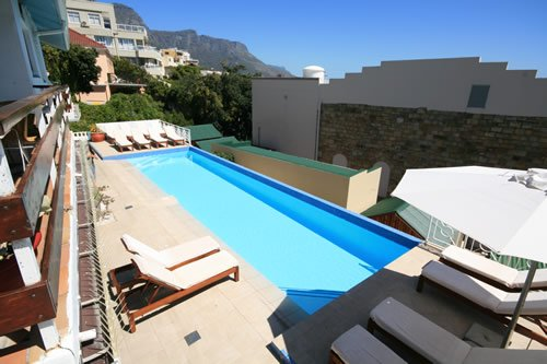 The larger communal swimming pool
