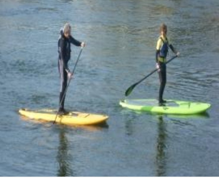 Paddlers, kayak and canoe club in the next village