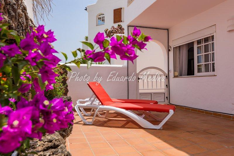 Precioso apartamento con terraza. Wifi gratis, aluguéis de temporada em Morro del Jable