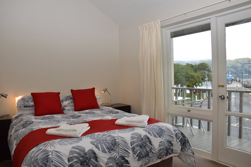 Master bedroom with harbour view
