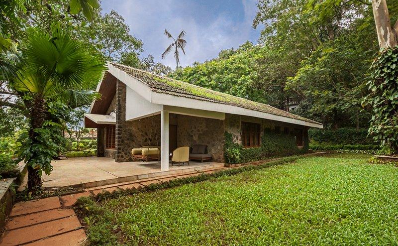 Villa Exterior with Greenery
