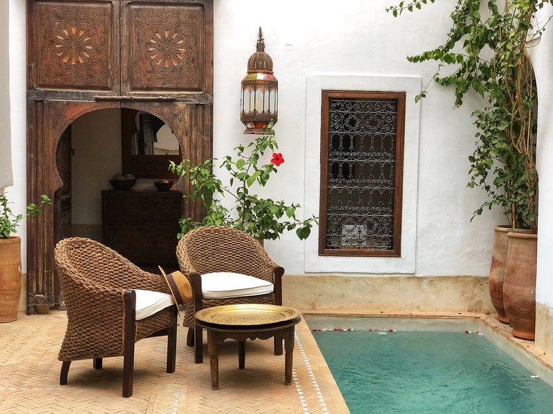Plunge pool and patio Dar Shariq luxury