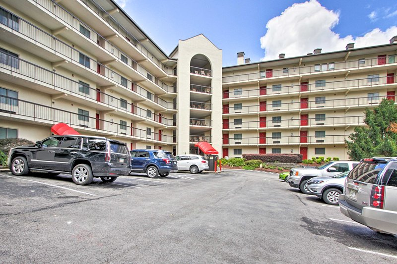 The condo offers free first-come, first-served parking.