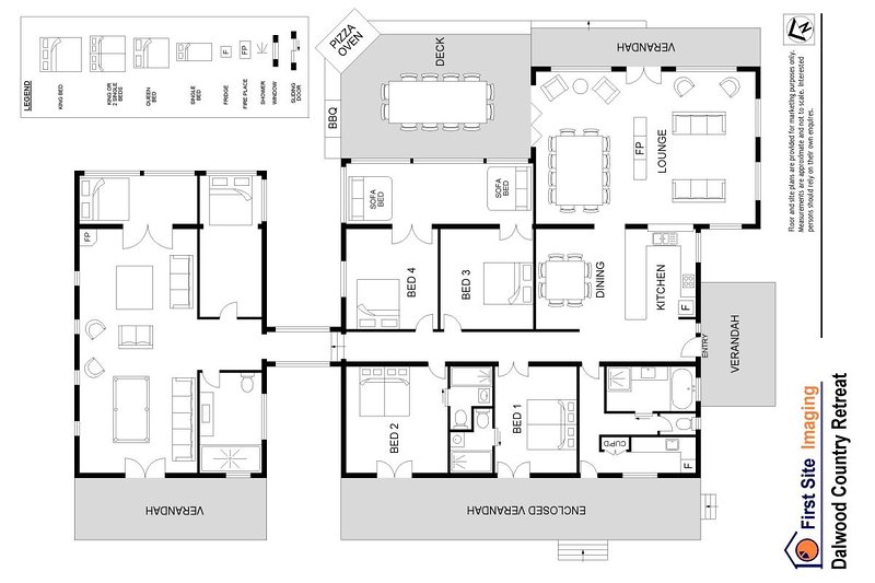 Hunter Valley Accommodation - Dalwood Country House - Dalwood - Floor Plan
