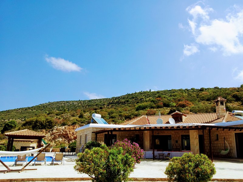Asteri has spectacular 180' views and a backdrop of mountains so is not overlooked by anything