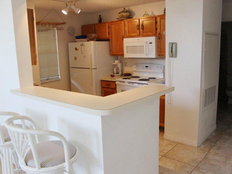 Asientos adicionales en el mostrador de la cocina para 2.