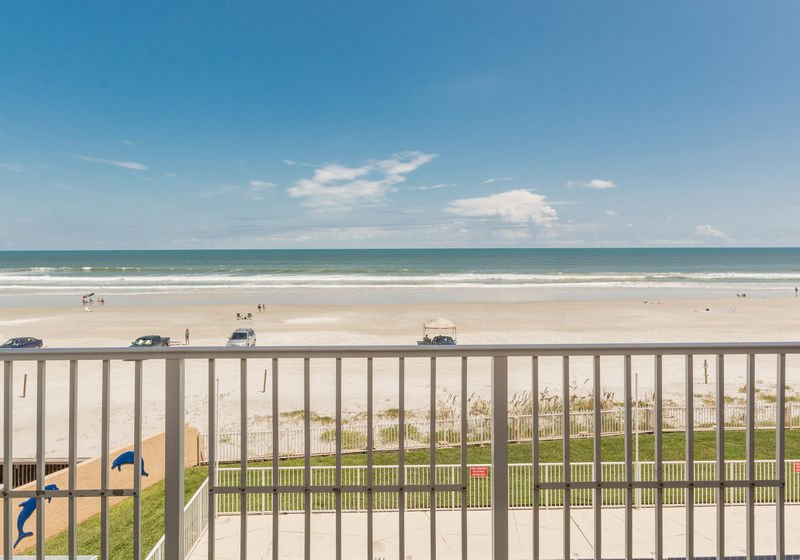 Beautiful oceanfront view from your private balcony.