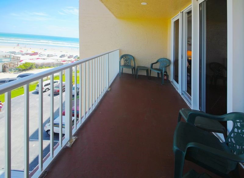 Sit on the private ocean view balcony and watch the waves roll upon the shore.