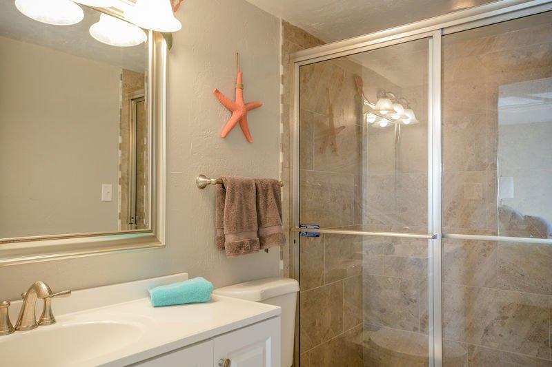 Master bath with walk in shower.
