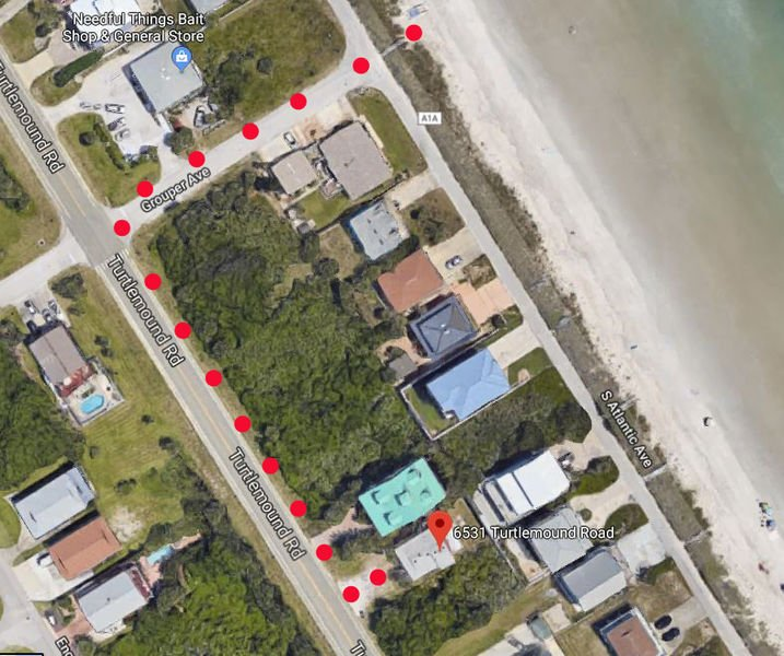 Easy walk to the beach access on Grouper Avenue.