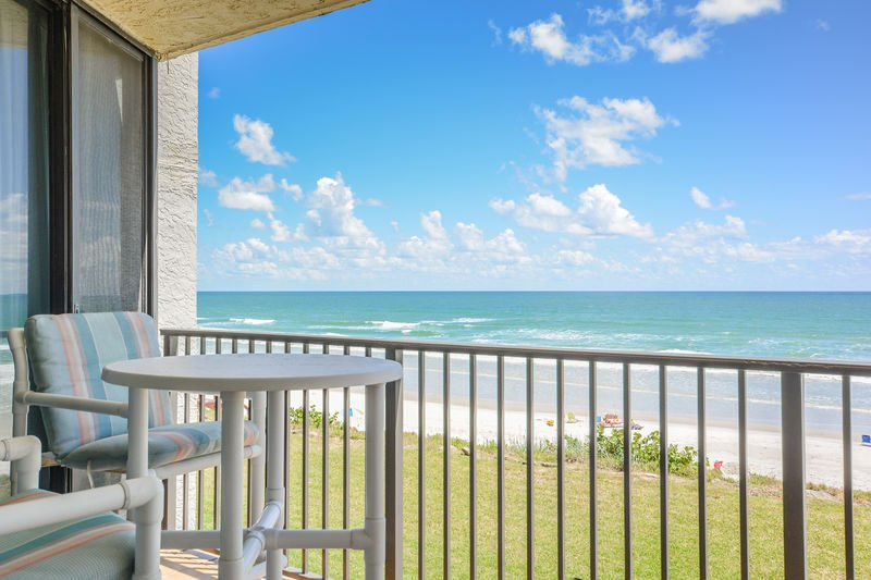 Relish the oceanfront views from the private balcony.