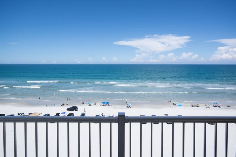 Enjoy the beautiful ocean front view from your balcony.