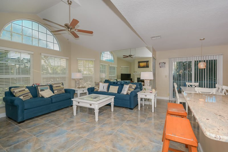 Plenty of room for entertaining or just relaxing after a long day at the beach.