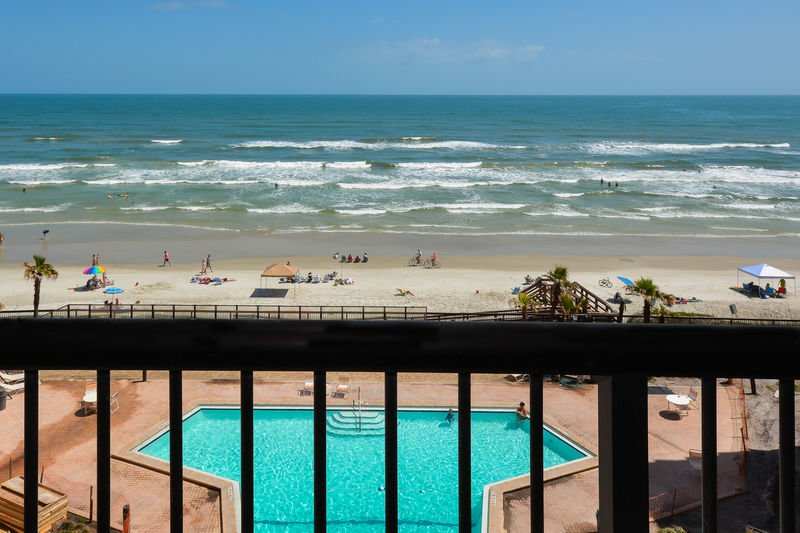 View of the oceanfront pool.