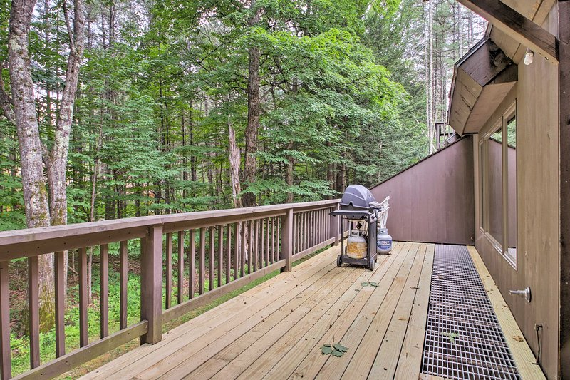 Your spacious 3-story townhome features an equally spacious private deck!