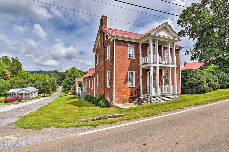 A minutos de la batalla de Blountville Battlefield, esta casa es un hito.