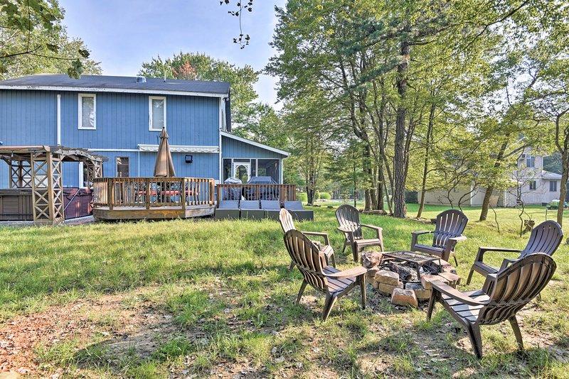 Faça uma viagem para este belo Lake Harmony 3 quartos, 2 casas de banho de férias