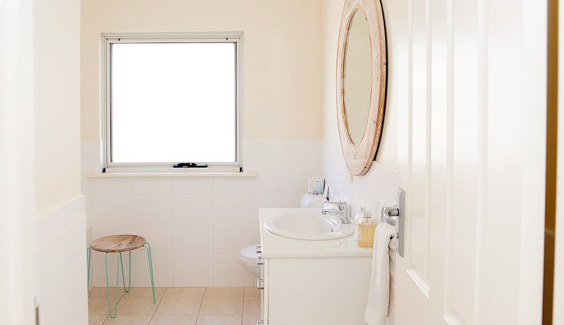 Main bathroom with full bath and walk in shower
